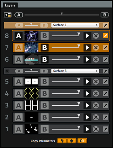 ArKaos GrandVJ XT Layers pane