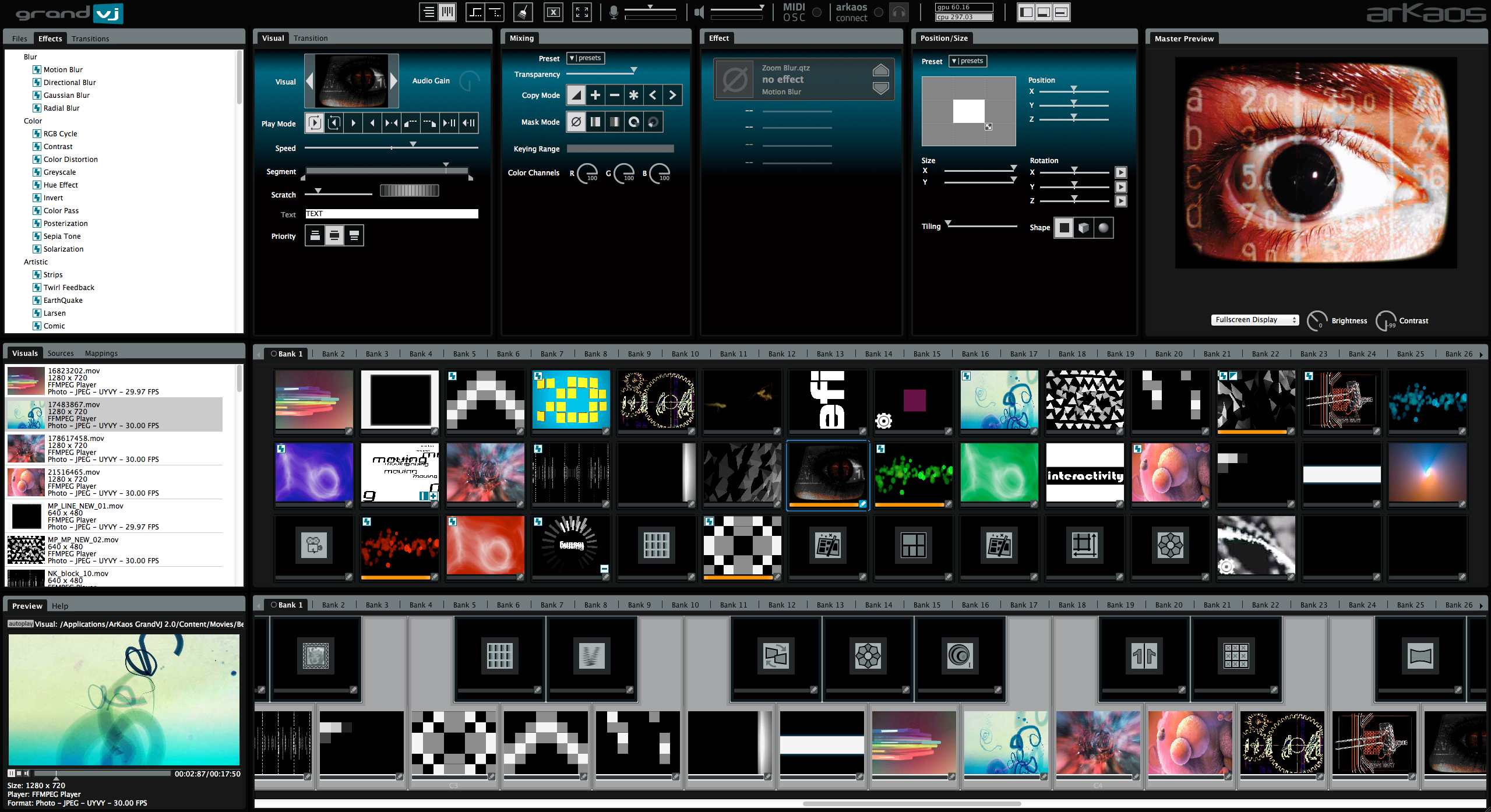 About Grandvj Eight Channels Vj Software For Real Time