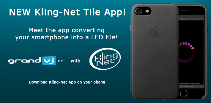 Convert your smartphone into a Kling-Net LED tile.