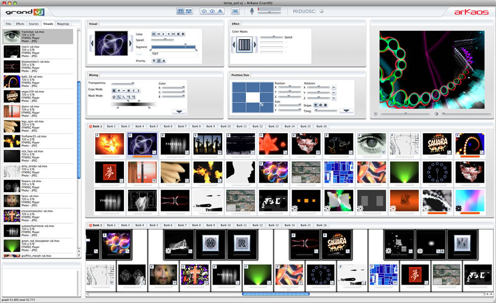 GrandVJ - Synth Mode